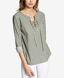Sanctuary Tommie Cotton Lace-Up Top