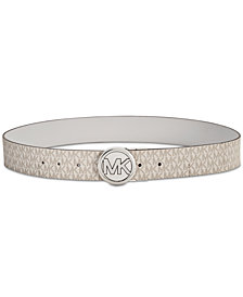 MICHAEL Michael Kors Reversible Pebble Signature Belt