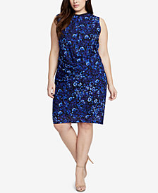 RACHEL Rachel Roy Trendy Plus Size Pleated Dress