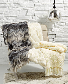 Lacourte Luxury Textured Throw Collection, Created for Macy's