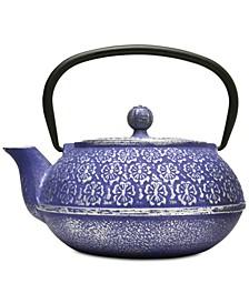 Floral Cast Iron 34-Oz. Teapot & Infuser