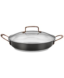 "Cuisinart Onyx Black & Rose Gold Stainless Steel 12"" Everyday Pan & Lid"