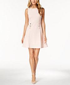 Ivanka Trump Button-Waist A-Line Dress
