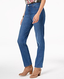 High-Waist Straight-Leg Jeans, Created for Macy's