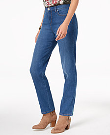 Style & Co Petite Natural Straight-Leg Ankle Jeans, Created for Macy's
