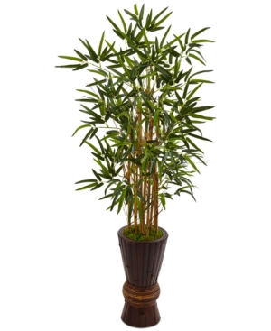 Nearly Natural 45 Bamboo Artificial Tree in Bamboo Planter