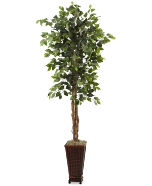 Nearly Natural 65 Ficus Artificial Tree in Decorative Planter