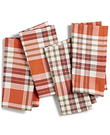 CLOSEOUT! BardwilBarry Plaid Napkins, Set of 4