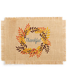 "Bardwil Thankful Placemat 13"" x 19"" Placemat"