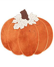 """Elrene Velvet Pumpkin 15"""" x 17.25"""" Placemat"""