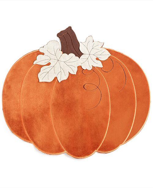 Elrene CLOSEOUT! Velvet Pumpkin Placemat