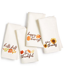 Homewear Harvest Set of 4 Napkins