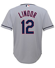 Francisco Lindor Cleveland Indians Player Replica CB Jersey, Big Boys (8-20)