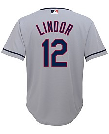 sale retailer 722d5 b0b4e Majestic Men's Francisco Lindor Cleveland Indians Player ...