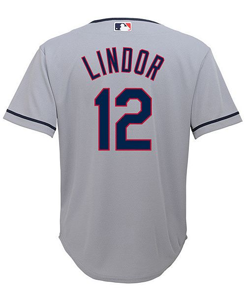 fca7361e1 Majestic Francisco Lindor Cleveland Indians Player Replica CB Jersey ...