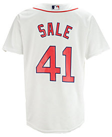 Majestic Chris Sale Boston Red Sox Player Replica Cool Base Jersey, Big Boys (8-20)