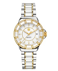 TAG Heuer Women's Swiss Formula 1 Diamond (1/2 ct. t.w.) Two Tone Stainless Steel Bracelet Watch 36mm WAH1221.BB0865