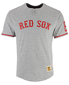 Mitchell & Ness Men's Boston Red Sox Sealed The Victory Henley T-Shirt