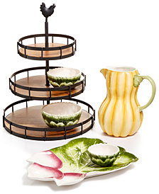 CLOSEOUT! Martha Stewart Farmhouse Serveware Collection
