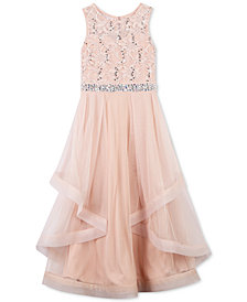 Speechless Big Girls Plus Sequin Lace Maxi Dress