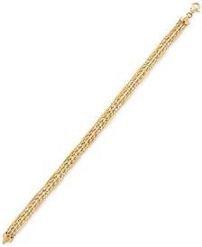 Fancy Rope Link Bracelet in 10k Gold