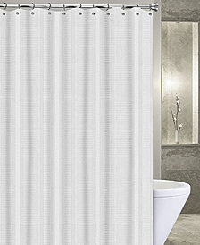 "Popular Bath Waffle Stripe 72"" x 72"" Shower Curtain"