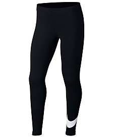 Nike Big Girls Sportswear Swoosh-Print Leggings