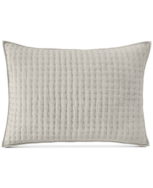 Hotel Collection CLOSEOUT! Velvet Quilted King Sham