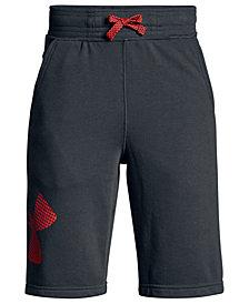 Under Armour Big Boys Graphic-Print Fleece Shorts
