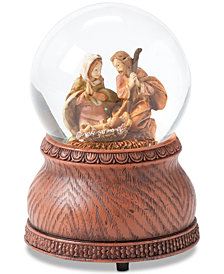 Roman Holy Family Musical Snowglobe
