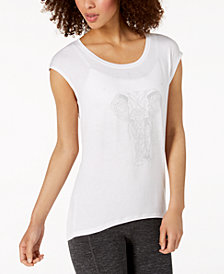 Gaiam Elephant Graphic Yoga Top