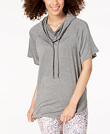 Gaiam Cowl-Neck Poncho Top