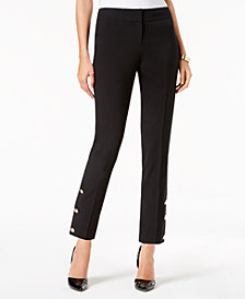 Nine West Embellished Slim-Leg Pants