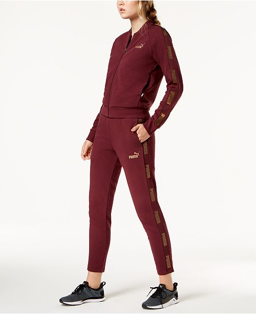 b3772973c13b Puma Metallic-Logo Track Jacket   Pants   Reviews - Women s Brands ...