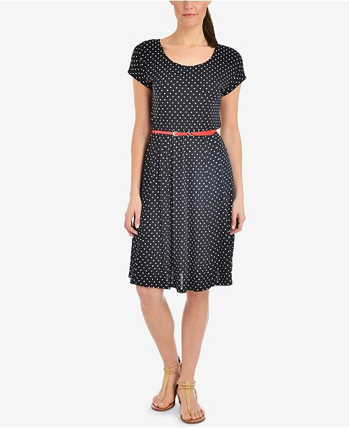 Dot Collection A Polkadance Petite NY Line Dress Black Polka qXxw1zn