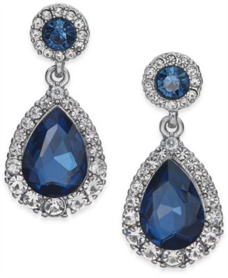 Pavé & Stone Drop Earrings, Created for Macy's