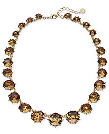 "Charter Club Gold-Tone Stone Collar Necklace, 17"" + 2"" extender, Created for Macy's"