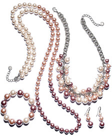 Charter Club Ombré Mauve Imitation Pearl Jewelry Collection