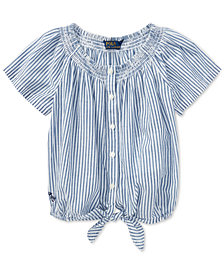 Polo Ralph Lauren Toddler Girls Striped Cotton Top