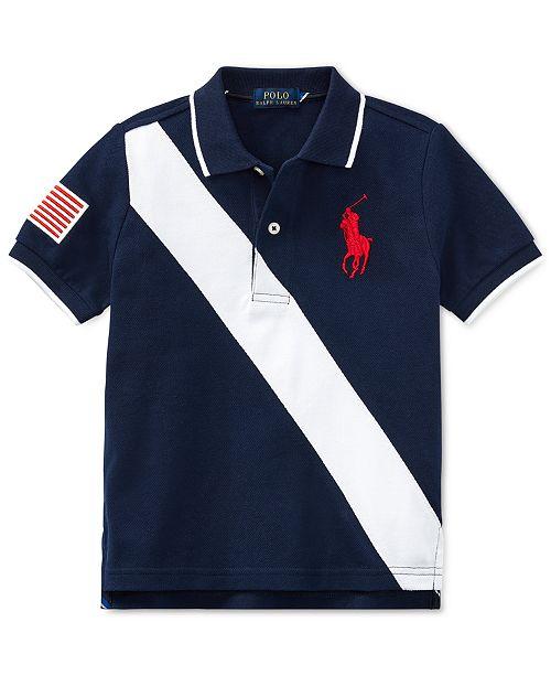 12c310595 Polo Ralph Lauren Toddler Boys Banner-Striped Cotton Polo & Reviews ...