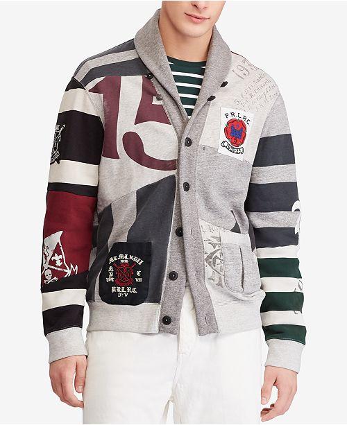 Polo Ralph Lauren Men s Patchwork Fleece Cardigan   Reviews ... 263e06f47