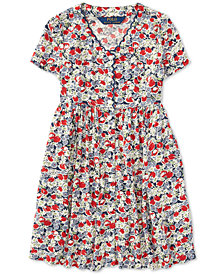 Polo Ralph Lauren Little Girls Floral Button-Front Dress