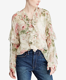 a08eeb0cf9e Polo Ralph Lauren Silk Blouse: Shop Silk Blouse - Macy's