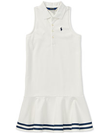 Polo Ralph Lauren Little Girls Striped Mesh Polo Dress