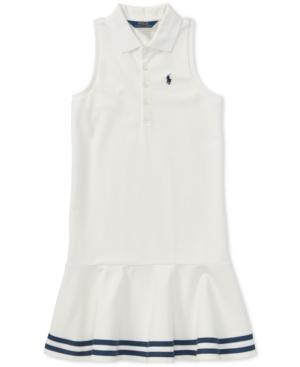1920s Children Fashions: Girls, Boys, Baby Costumes Polo Ralph Lauren Big Girls Striped Mesh Polo Dress $37.12 AT vintagedancer.com