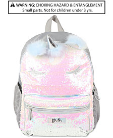 P.S. by FAB Little & Big Girls Sequinned Unicorn Backpack