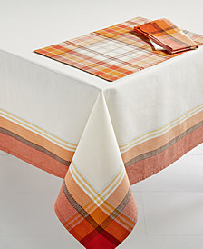 Arlee Monroe & Halmar Plaid Table Linens Collection