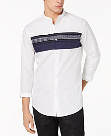 I.N.C. Men's Band Collar Shirt, Created for Macy's