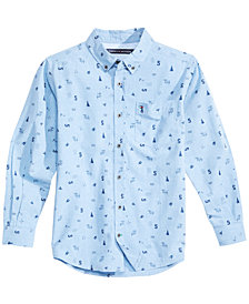 Tommy Hilfiger Big Boys Sawyer Printed Cotton Shirt