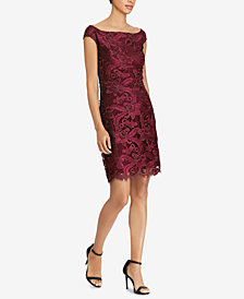 Lauren Ralph Lauren Scallop-Lace Dress